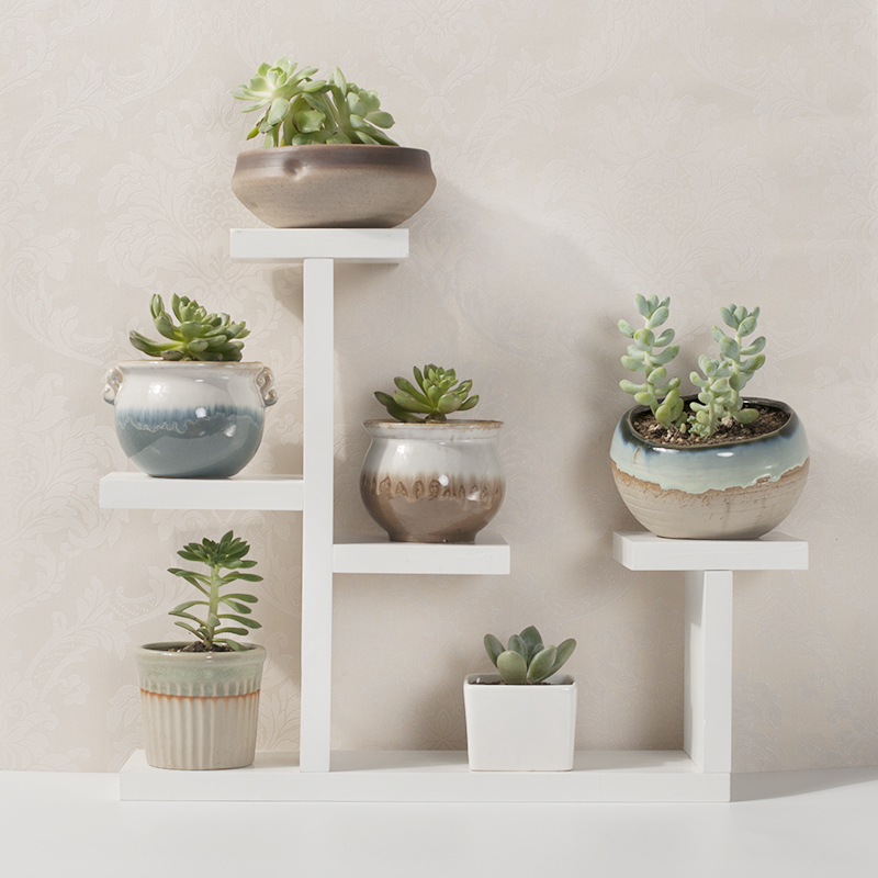Desktop Bay Window Table More Meat Flower Shelf Indoor Living Room Small Flower Stand Balcony Flower Pot Rack Storage Decoration