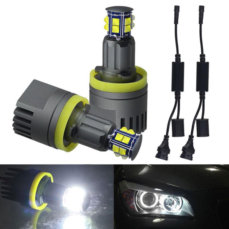 2Pcs 120W H8 LED Angel Eyes Light Halo Ring Headlight 6000K For BMW E60 E61 E63 X5 E70 X6 E71 E90 E91 E92 E93 M3 E89 E82 E87