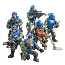 Мини-набор солдат, статуэтки сил по подержанию мира с строительными блоками, пистолет, армия, совместимые с крупными брендами, игрушки, подарок