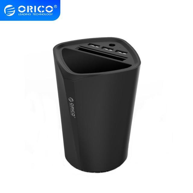 ORICO 자동차 충전기 3 USB DC/5V 7.2A 컵 전원 소켓 어댑터 담배 라이터 분배기 카드 홀더 슬롯