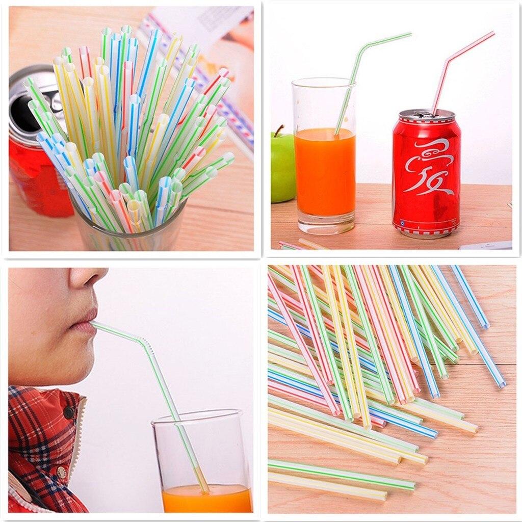 500 Pc pajitas plastico allongement canette plié femmes enceintes jus boisson lait thé paille rietjes plastique