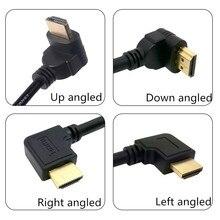 HDMI 1.4 Male 90 Graden Links Rechts Down Up Haaks naar HDMI Male Kabel Cord Ondersteuning 3D & Ethernet 50cm 0.5m