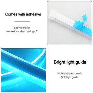Image 2 - 2ชิ้น/ล็อตUltra Thin LED Daytime Running Light Soft Tube LED Stripสีสันน้ำท่องเที่ยวรถstrip 12V