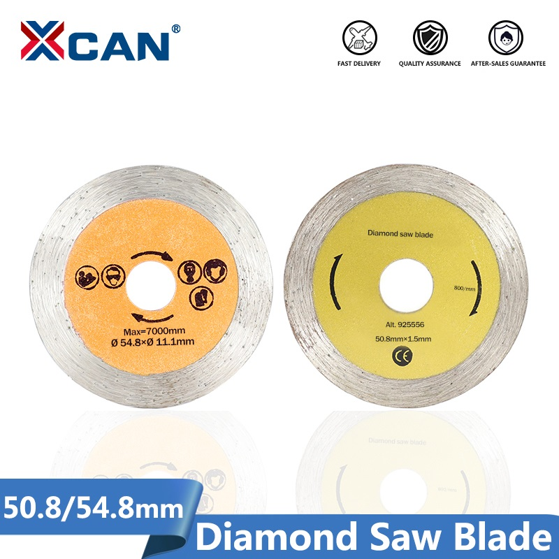 XCAN Diamond Saw Blade 50.8/54.8mm Mini Saw Disc With 6mm Shank Mandrel For Cutting Stone Circular Saw Blade