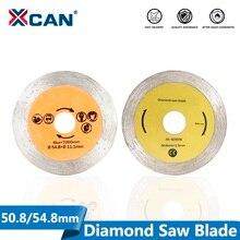 XCAN diamentowe ostrze piły 50.8/54.8mm piłka Disc z trzpieniem trzpienia 6mm do cięcia kamienia piły tarczowej