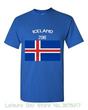 2019 Iceland Flag Russia World Match Cup Newest Design T Shirt Mens Fans Footballer Short Sleeve Tee Funny O Neck T Shirt(China)