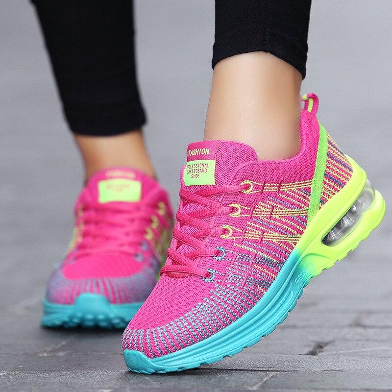 2019 גבירותיי אוויר כרית אביב נשים נעליים|נעלי הליכה|   - AliExpress
