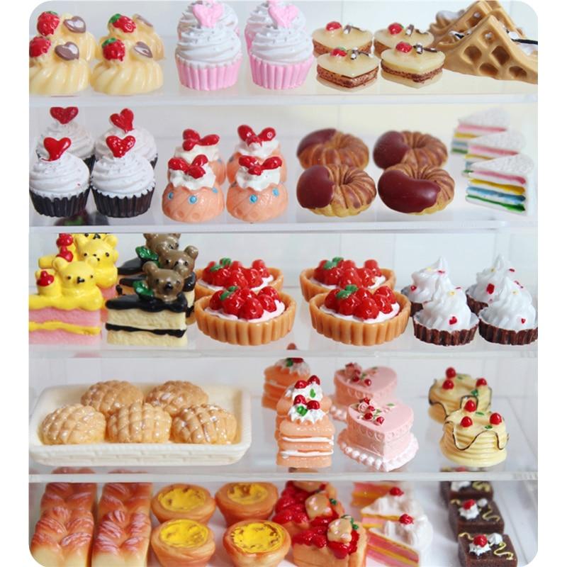 1:12 Scale Bread Cake Baking Set Tumdee Dolls House Kitchen Cooking Accessory MU