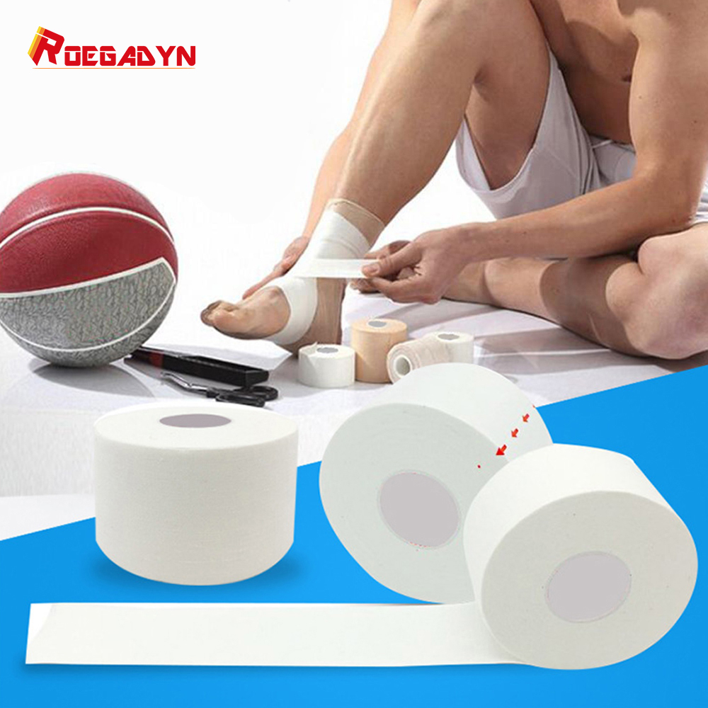 ROEGADYN White Ankle/Elbow/Wrist/Knee Bandage Self\x2dadhesive Bandage Neurmuscular Kinesiological Tape Adhesive Sport Protector