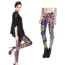 Girls Leggings Mermaid Girl Pants Colorful Shiny Scale Slim Trousers Womens Outfits Leggins