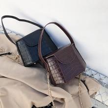 Women Bags Crocodile Crossbody Handbags For Women Shoulder Bag Brand Designer  Luxury PU Leather Small Bucket Bags Handbag цены