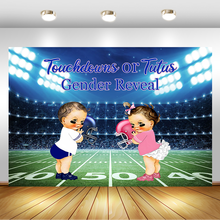 Sports Theme Gender Reveal Photography Background Touchdown or Tutu Baby Shower Backdrop Gender Surprise Party Photo Background fish net ocean pirate pirate beach theme party wedding kids birthday baby shower gender reveal decoration background photo both
