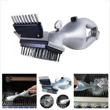 Barbecue Stainless Steel BBQ Cleaning Brush Outdoor Churrasco Grill Cleaner Accessories Cooking Tools