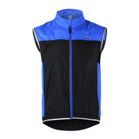 ARSUXEO Men Cycling Windproof Vest Breathable Cycling Gilet Bike Sleeveless Vest for Bicycle Cycling Sportswear Ultrathin