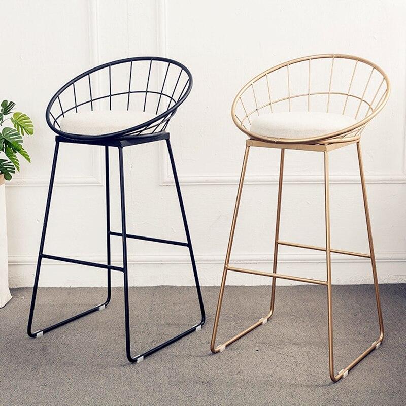 Simple Bar Chair Iron Bar Chair Gold High Stool Modern Dining Chair Wire Leisure Chair Nordic Bar Chair