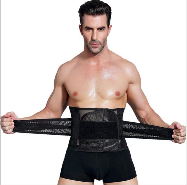 New Men Slimming Abdomen Fat Burn Tummy Body Shaper Sweat Belt Cincher Wraps Corset Gym Sport Women Trainlt Wide Belt Waistband 1