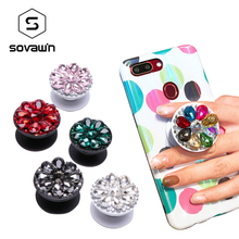 Sovawin Crystal Diamond Phone Holder Stand Finger Ring Unive