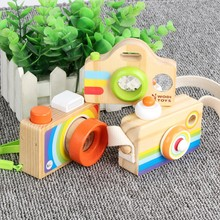 Wood Camera Toy Baby Toys for Children Brain Game Wooden Camera Kids Camera Kaleidoscope Rainbow color Magic Toys Birthday Gifts(China)