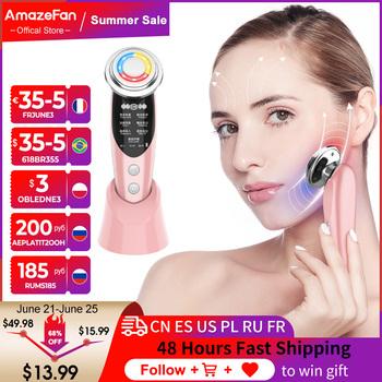 AmazeFan7in1RF i EMS radioterapia elektroporacja lifting Beauty LED odmładzanie skóry twarzy Remover zmarszczki częstotliwość radiowa tanie i dobre opinie CN (pochodzenie) Nawilżanie skóry Do ujędrniania skóry do czyszczenia twarzy akumulator 166 * 50 * 47mm Beauty Skin Care Tools