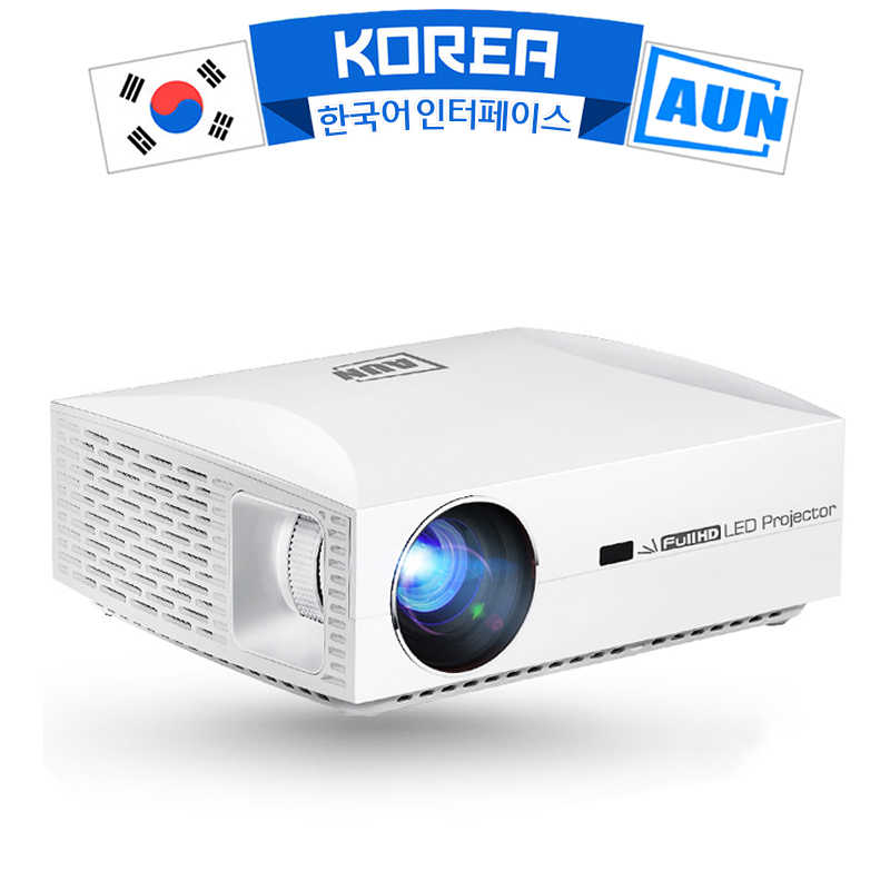 AUN Full HD 1080P Proyektor F30UP, 1920X1080P, 6500 Lumens, android 6.0 (2G + 16G) WIFI, Mendukung 4K, 3D Proyektor, Opsional F30