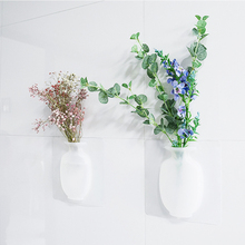 Magic Rubber Silicone Sticky Flower Wall Hanging Vase Container Floret Bottle Home Decoration Stickers For Plants Living Room B4