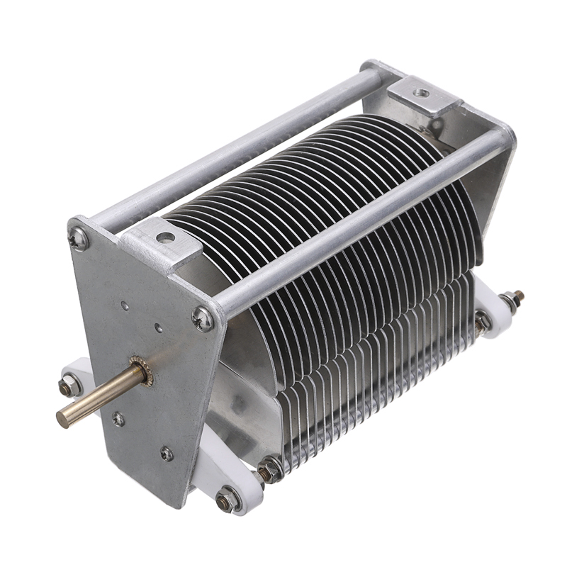 Durable Adjustable Capacitor 20-1000PF 1000V Single-unit Air Dielectric Variable Metal Capacitor With Knob Electrical Equipment