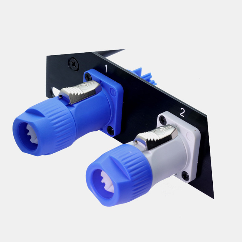 Image 5 - 50pcs NAC3FCA NAC3FCB PowerCon Connector 3pins 20A 250V Powercon Male Plug, with CE/RoHS,Blue(Input) & Light Grey(Output)-in Connectors from Lights & Lighting