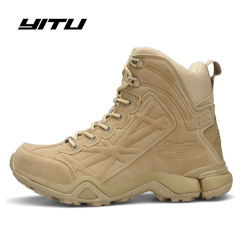 Army Boots Military Boots Men Tactical Boots Army Tactical Desert Combat Boots Safety Shoe Winter Autumn Leather Snow Boots