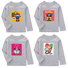 Boys T Shirt  Cartoon Printed Spring Autumn Children Clothes Kids shirt For Girls Top Tees Cotton Baby T-Shirt Boy
