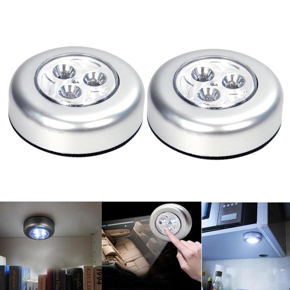 Under Cabinet Light With Adhesive Sticker Wireless Wall Lamp Wardrobe Cupboard Drawer Closet Bedroom Kitchen Night Light лампа