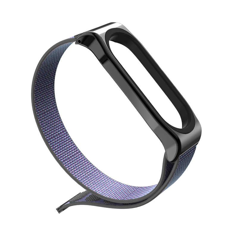 Mi posti di lavoro mi fascia 4 3 nyion loopback Strap Accessori Per Xiao Mi Mi fascia 3 intelligente vigilanza Del braccialetto Del Polso per mi fascia 4 3 cinturino Di vigilanza