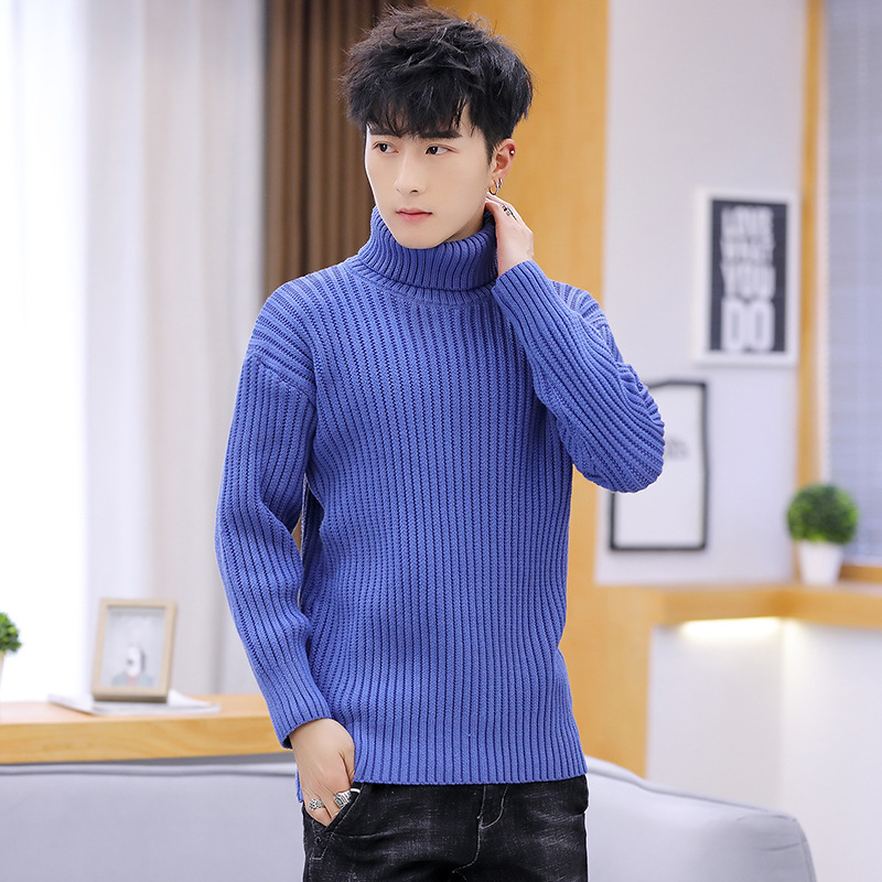 Pink Black Mens Sweaters Gray Blue New Sleeve Fashion Long Sleeves Leisure Winter Men Sweater Pullovers Turtleneck Casual