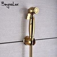 Titan gold Messing-wand Handheld Bad Wc Bidet Wasserhahn Sprayer