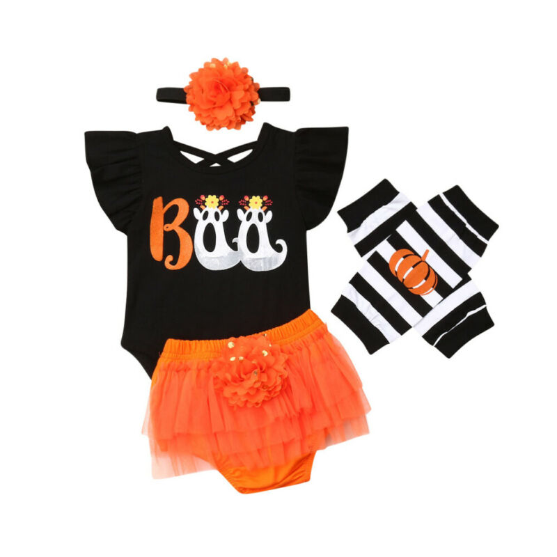 Headband Leg-Warmers Dress Shorts Tops Holiday-Suit Halloween Newborn-Baby Girls Cute