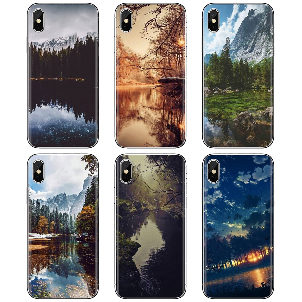 Силиконовый чехол для Samsung Galaxy A3 A5 A7 A9 A8 Star Lite A6 Plus 2018 2015 2016 2017 озеро лес природа пейзаж, который|Чехлы-накладки|   | АлиЭкспресс