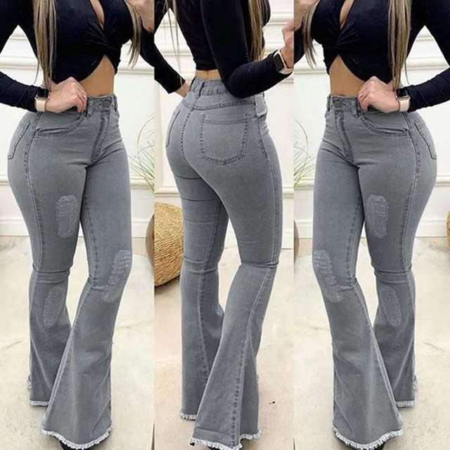Лидер продаж 2020 джинсы однотонные пикантные облегающие брюки