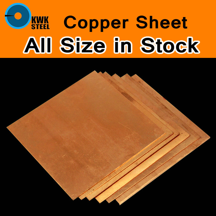 Copper Sheet C11000 ISO Cu-ETP CW004A E-Cu58 Plate Pad Pure Copper Tablets DIY Material For Industry Or Metal Art All Size Stock