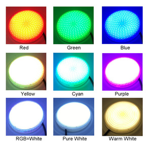 Image 5 - LED Pool Bulb 24W Resin Filled Light AC12V Spot Piscine LED Couleur RGB PAR 56 Projector+FB Remote Synchronous Warm Cool White