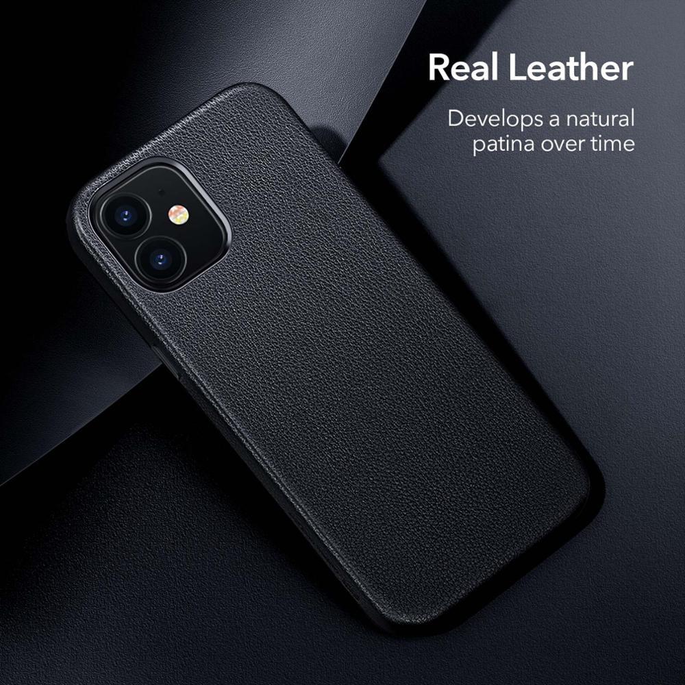 Esr Luxe Case Voor Iphone 12 Lederen Back Cover Voor Iphone 12 Mini 12 Pro Max Echt Lederen Business Case voor Iphone 12 5
