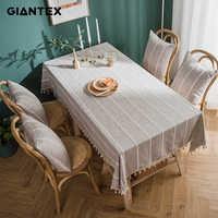 GIANTEX Dekorative Tisch Tuch Quaste Tischdecke Rechteckige Tischdecken Esstisch Abdeckung Obrus Tafelkleed kaminsims mesa nappe