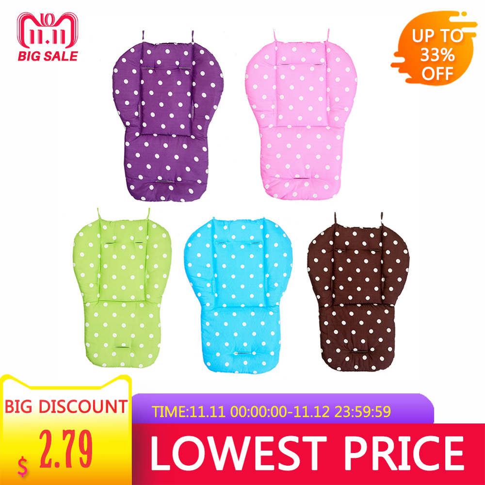 Dot Baby Stroller Seat Cushion Pushchair Pram Car Soft Mattresses Baby Carriages Seat Cotton Pad Stroller Mat Accessory