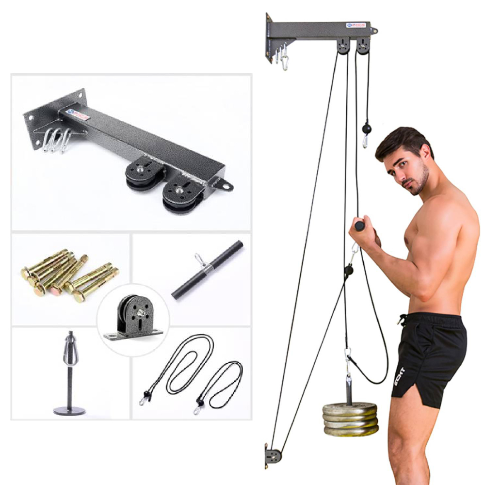 2020 New Fitness Equipment Cable Machine Attachments Arm Biceps Triceps Blaster Cable Accessories Pull Rope Gym Wrist Roller