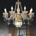 Europäischen luxus kerze kristall kronleuchter wohnzimmer esszimmer schlafzimmer Französisch retro Goldene Kreative Glas Kronleuchter-in Pendelleuchten aus Licht & Beleuchtung bei