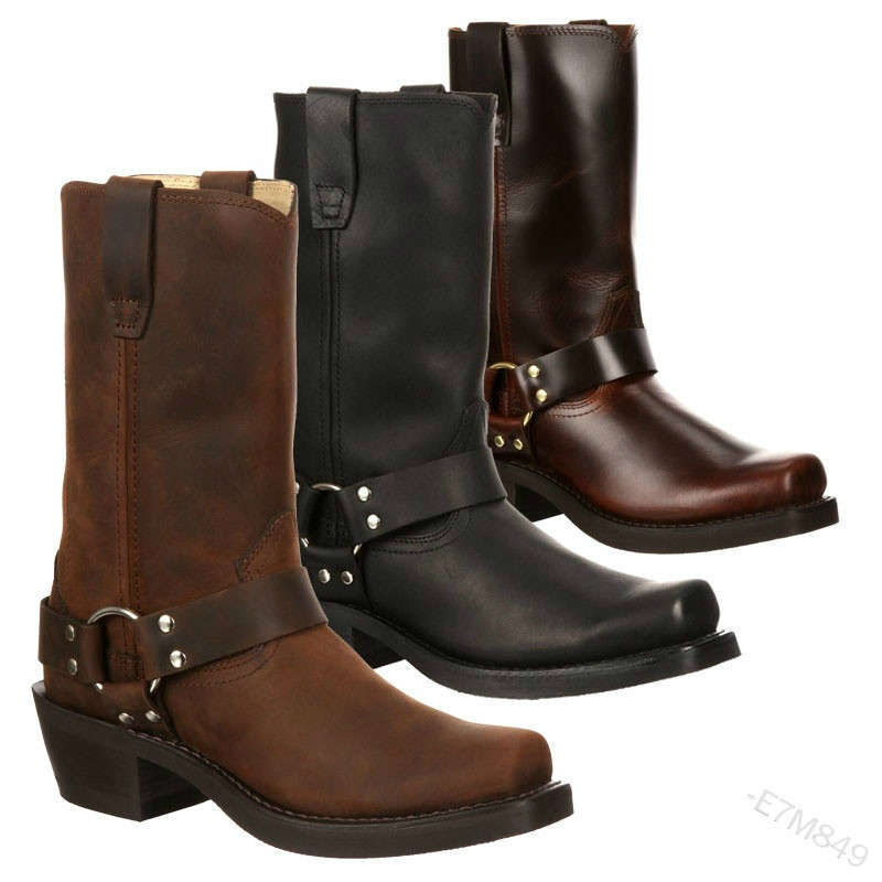Woman Knee High Boots Combat Vintage Leather Boots Rider Horse Boot (1)
