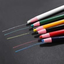 Kolorowe szwalnicze kredki krawieckie kredki marker do tkanin kreda do szycia kreda do krawieckich akcesoriów do szycia tanie tanio Krawca kreda Haft Z tworzywa sztucznego Red Blue Green White etc 17cm about 0 45cm Chalk Sewing Chalk