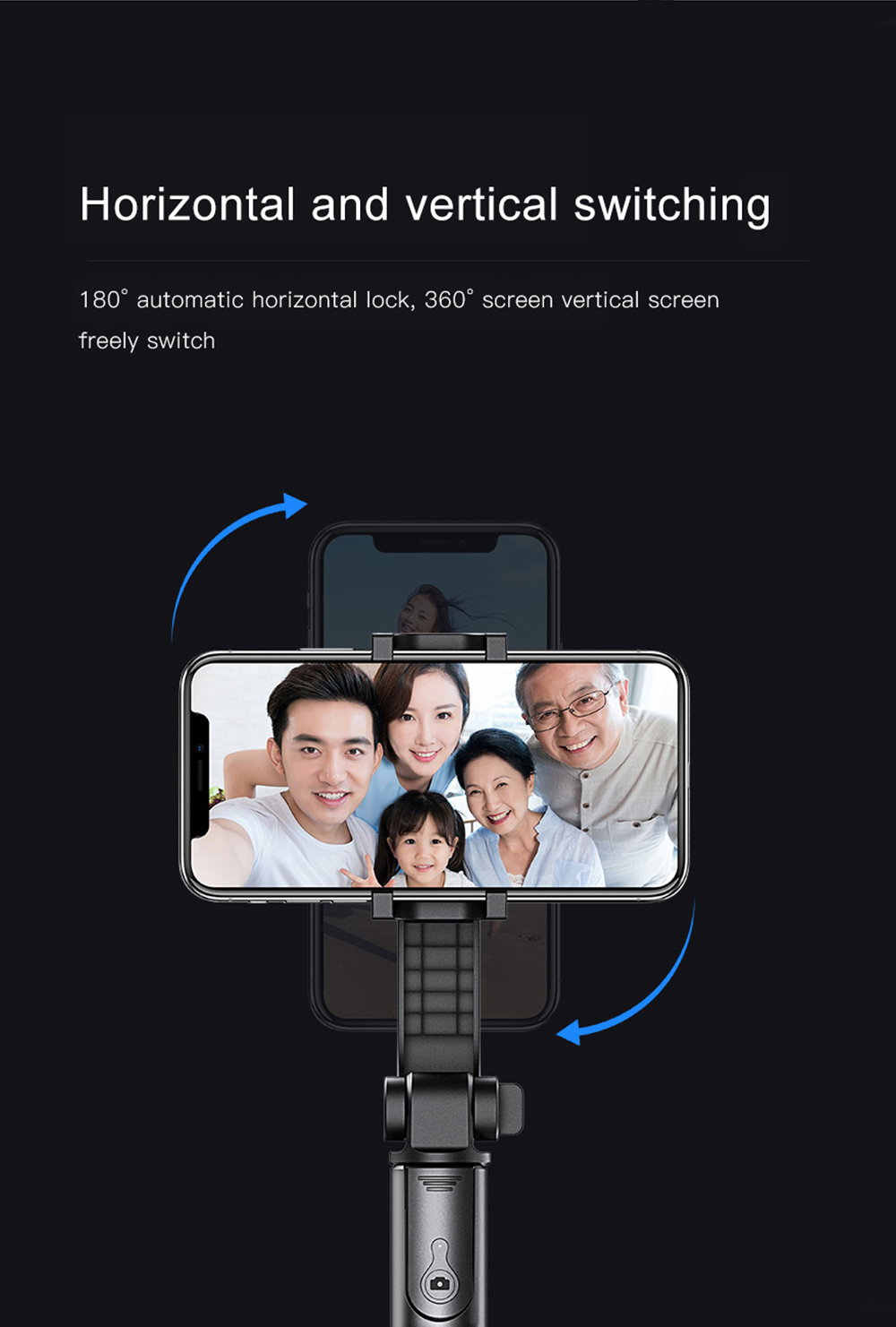 Bonola 3 in1 Handheld Gimbal Stabilizer Smartphone Selfie Stick Tripod For iOSAndroid Video Stabilizer For iPhone11ProSamsung (10)