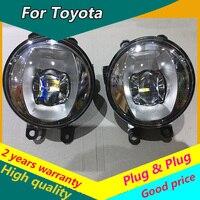 Car Styling Fog Lamp for Valeo for KIJANG INNOVA DAIHATSU XENIA WISH PRADO for valeo original LED fog light assembly