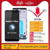 """5.99 """"Original D'AFFICHAGE À CRISTAUX LIQUIDES D'IPS Pour Xiaomi Redmi 5 Plus Écran Tactile LCD avec Cadre 10 Dotyk Pour Xiaomi Redmi 5 Plus LCD Pièces De Rechange"""