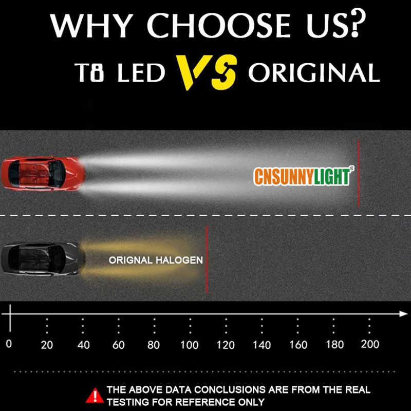 CNSUNNYLIGHT T8 2PCS H7 H4 H1 H11 9005/6 LED Auto Car Headlight Bulbs 15000Lm 70W/Pair 6000K Canbus No Error Automotive FogLamps