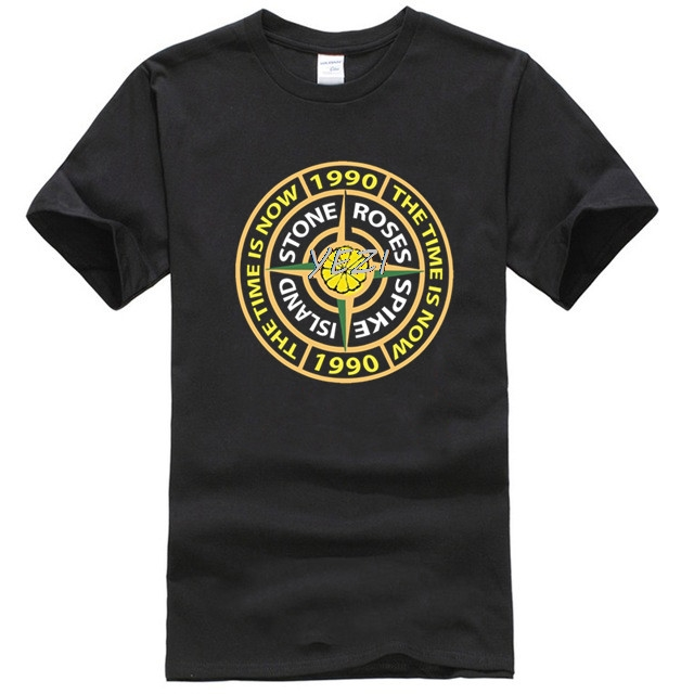 New Popular Fashion Men's T-shirt The Stone Roses Spike Island T-shirt-indie Music Tee Men's Punk T-shirt
